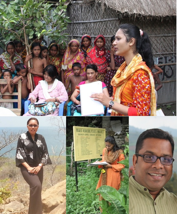 collage of photos of CARIAA researchers in India