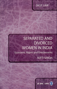 Couverture du livre Separated and Divorced Women in India