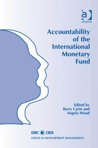 Couverture du livre Accountability of the International Monetary Fund