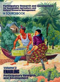 Couverture du livre Participatory Research and Development for Sustainable Agriculture and Natural Resource Management: A Sourcebook Volume 2: Enabling Participatory Research and Development