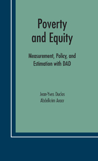 Couverture du livre Poverty and Equity: Measurement, Policy, and Estimation with DAD