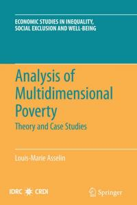 Couverture du livre Analysis of Multidimensional Poverty: Theory and Case Studies