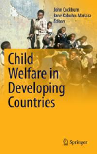 Couverture du livre Child Welfare in Developing Countries