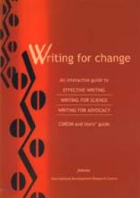 Book cover Writing for Change — An Interactive Guide to Effective Writing, Writing for Science, and Writing for Advocacy