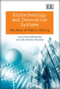 Couverture du livre Biotechnology and Innovation Systems : The Role of Public Policy