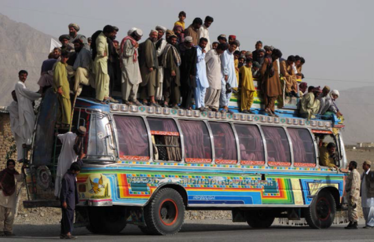 a bus carrying many individuals