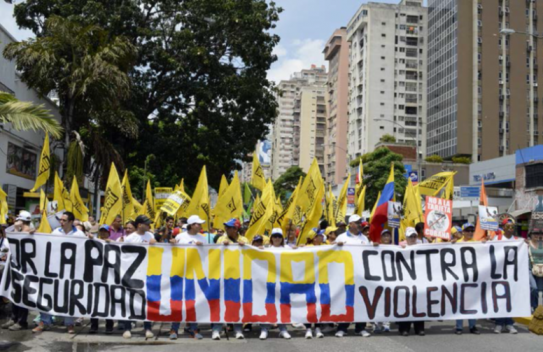 Protest to end violence in Venzuela
