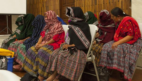 veiled women during the hearing